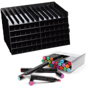 Spectrum Noir Alcohol Bright Marker 24 Pack with Storage Solution - 2 Items Bundled by Maven Gifts