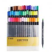 STA 48 Colours Dual Tips Water-Soluble Brush Render Art Graphic Drawing Painting Marker Pen Set for Sketch Design Shade Illustrate Scribbling etc