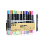 STA 80 Colours Dual Tips Water-Soluble Brush Render Art Graphic Drawing Painting Marker Pen Set for Sketch Design Shade Illustrate Scribbling etc
