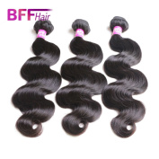 Ali BFF Hair Products 8A Human Hair Bundles Brazilian Virgin Hair Body Wave Mink Hair Extension Natural Black Colour 3 Bundles 36cm