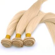 Secrect Stylist Remy Human Hair Weaves 3 Bundles Brazilian Hair Weaves 300g Straight Human Hair Extensions 613 Bleach Blonde 36cm