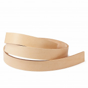 8.8 -300ml Italian Natural Veg-tanned Cowhide Leather Strap for DIY Belt Making 130cm Long by WUTA Leather