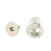 Bluemoona 10 Sets - 6mm Leather Diamond Brass Head Button Stud Screw back Chicago Nail Rivet