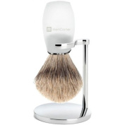 Transparent Shaving Brush & Stand Chrome mencorner. Com
