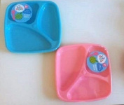 3 Baby Divided Plates Toddler Set Food Training Kids Highchair Holidays Sections BPA Free Dish Pack