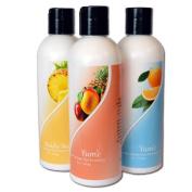 Yum'e Prep and Maintain Spray Tan Set - 1 each : Scrub, Daily Moisturiser, and DHA Moisturiser - 240ml of each
