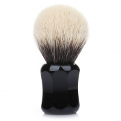 Thater 4125 Finest 2-Band Silvertip Shaving Brush, Black 28mm - Bulb