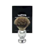 Premium Genuine Badger Bristles Brush - Outstanding Quality Elegant Silvery Alloy Handle - Best Shaving for Your Life
