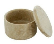 Col Conk Brown Fossil Marble Small Covered Shave Soap Bowl Shaving Bowl