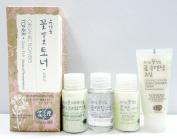 Whamisa Natural Fermentation [ Skin Care Kit ] Organic Flowers Deep Rich Toner 120ml / Double Rich Lotion 20ml / Sebum Treatment 20ml / Cleansing Oil 20ml / Cleansing Foam 20ml - EWG Verified