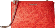 LOVE Moschino Women's Embossed Logo Pouch Bag Orange