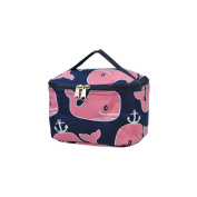 Pink Whale Print NGIL Cosmetic Case