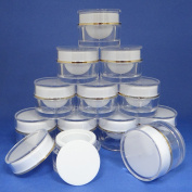 12 Pcs 10g Plastic Jar Make up Cream Cosmetic Lotion Double Wall Container Case