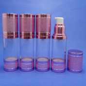 4 Pcs 30 ml Airless Pump Bottle Air Tight Clear Plastic Bottle with Aluminium Lid