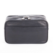 Bugatti Sartoria Leather Washbag Black