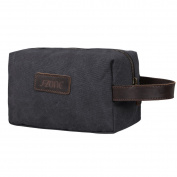 S-ZONE Canvas Travel Toiletry Organiser Shaving Dopp Kit Cosmetic Makeup Bag