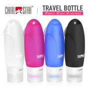 Travel Bottles Leak Proof and TSA Approved Silicon Shampoo Travel Containers 90ml Perfect for Travel Camping Gym Business Set of 4