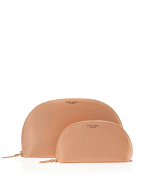Henri Bendel WEST 57TH DOME COSMETIC BAG DUO (set of 2) - Light Pink/Nude