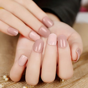24 Pieces Nude Two-tone False Nails