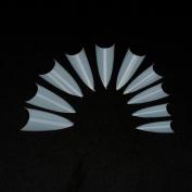 H88 500 Pcs Clear Sharp Half Well Nail Tips Half Well False Art Acrylic Gel Nails
