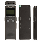 Timorn 8GB Mini Digital Audio Voice Recorder MP3 Player USB Rechargeable PMC Recording 280Hr with LCD Display