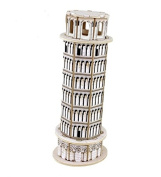 3D World Architecture Leaning Tower of Pisa Building Blocks Construction Model Building Toys DIY Decorations Gift Handmade Crafts Artwork