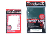 KMC Hyper Mat Sleeve Green (80Pieces) & Card Barrier Perfect Size Soft Sleeves (100Pieces)