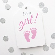 It's a Girl, Baby Feet Baby Shower Favour Hang Tags