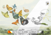 Colouring Calendar 2018 (12 pages 20cm x 28cm ) Richard Doyle In Fairyland 2 FLONZ Vintage Designs for Grayscale Colouring