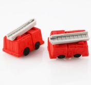 FD3874 Removable Fire Engine Eraser Rubber Pencil Stationery Child Gift Toy 1pc^