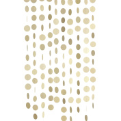 Ling's moment Paper Circle Garland ( 6.4cm Dots, 2.7m, Pack of 10 ), Circle Hanging Decorations for Wedding, Baby Shower, Festival Items & Party Props - Champagne Gold Glitter
