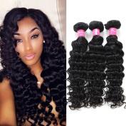 Mink Hair Brazilian Deep Wave Hair Bundles (70cm ) 100% Unprocessed Virgin Human Hair Extensions Natural Colour Deep Weave Hair 100g/ bundles