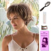 Morgan by Noriko, Wig Galaxy Hair Loss Booklet, 60ml Travel Size Wig Shampoo, Wig Cap, & Loop Brush (Bundle - 5 Items), Colour Chosen