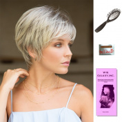 Megan by Noriko, Wig Galaxy Hair Loss Booklet, Wig Cap, & Loop Brush (Bundle - 4 Items), Colour Chosen