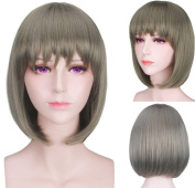 SmartFactory Short Straight Bob Fashion Synthetic Fibre Cosplay Wig for Cospaly
