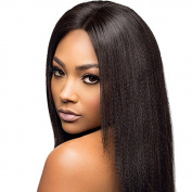 CARA Italian Yaki Glueless Lace Front Human Hair Wigs Brazilian Virgin Hair Yaki Straight Full Lace Human Hair Wigs For Black Women