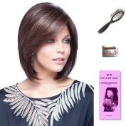 May by Noriko, Wig Galaxy Hair Loss Booklet, 60ml Travel Size Wig Shampoo, Wig Cap, & Loop Brush (Bundle - 5 Items), Colour Chosen