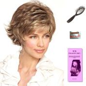 Mason by Noriko, Wig Galaxy Hair Loss Booklet, Wig Cap, & Loop Brush (Bundle - 4 Items), Colour Chosen