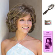 Mariah by Noriko, Wig Galaxy Hair Loss Booklet, Wig Cap, & Loop Brush (Bundle - 4 Items), Colour Chosen