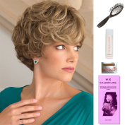 Lulu by Noriko, Wig Galaxy Hair Loss Booklet, 60ml Travel Size Wig Shampoo, Wig Cap, & Loop Brush (Bundle - 5 Items), Colour Chosen