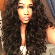 Foxys' Hair 7A Grade Wavy Style 100% Virgin Brazilian Human Hair U Part Wigs for Black Women Middle Part 130 Density Natural Colour U Part Human Hair Wig