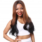 AISI HAIR Long Brown Wig Brown Ombre Wig Synthetic Black Curly Long Wigs Straight Hair Wigs for Black Women