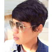 AISI HAIR Short Black Women Wigs Pixie Cut Wig Heat Resistant Synthetic Wigs for Black Women