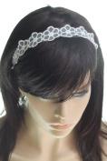 LAUREN STORE, Fashion Women Flower Lace Elastic Stretch Headband Headwrap