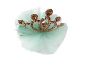 Askana Girls Glitter Crown Hair Clip Blue