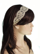 LAUREN STORE, Women's Fashion Lace Elastic Wide Stretch Headband Headwrap