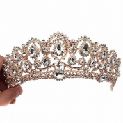 Crown, Tiara, YallFF Prom Queen Crown Quinceanera Pageant Crowns Princess Crown Rhinestone Crystal Bridal Crowns Tiaras for Women