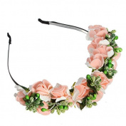 ieasysexy Boho Floral Garland Hairband Flower Wreath Wedding Crown Headband for Festival Wedding Party
