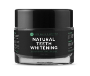 Natural Teeth Whitening Activated Charcoal Powder (60ml) by Kate Blanc. Bentonite Clay + Organic Peppermint for Mint Flavour. Removes Stain, Plague & Bad Breath. Healthier, Whiter Teeth & Gum