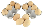 Samyo Unpainted Wooden Eggs for Easter, Spring Crafts, and Displays 2- 1.3cm x 1- 1.9cm